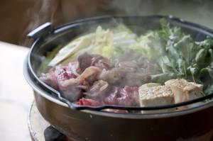 松茸料理とすきやき